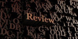 Review - Wooden 3d rendered letters/message